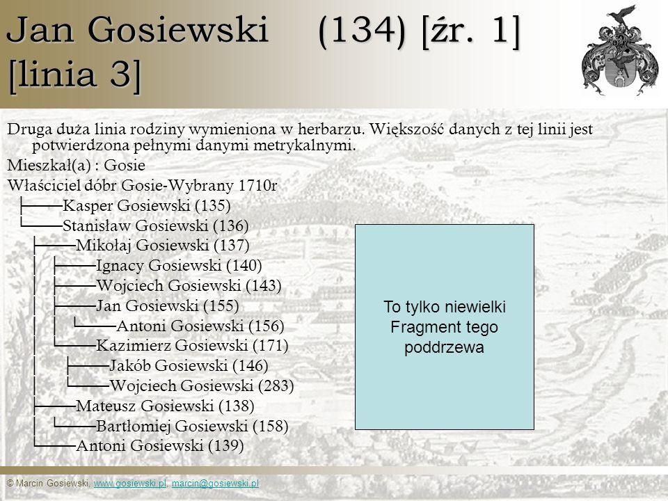 © Marcin Gosiewski, www.gosiewski.pl, marcin@gosiewski.plwww.gosiewski.plmarcin@gosiewski.pl Jan Gosiewski (134) [źr. 1] [linia 3] Druga du ż a linia