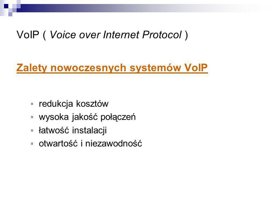 Zalety nowoczesnych systemów VoIP redukcja kosztów wysoka jakość połączeń łatwość instalacji otwartość i niezawodność