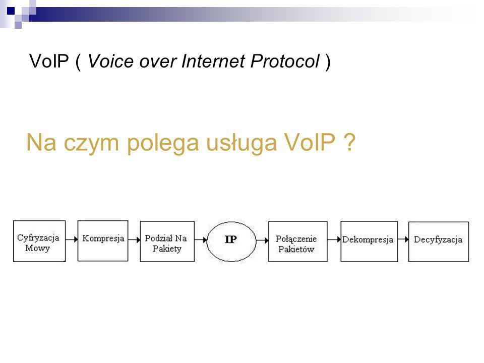 VoIP ( Voice over Internet Protocol ) Na czym polega usługa VoIP ?