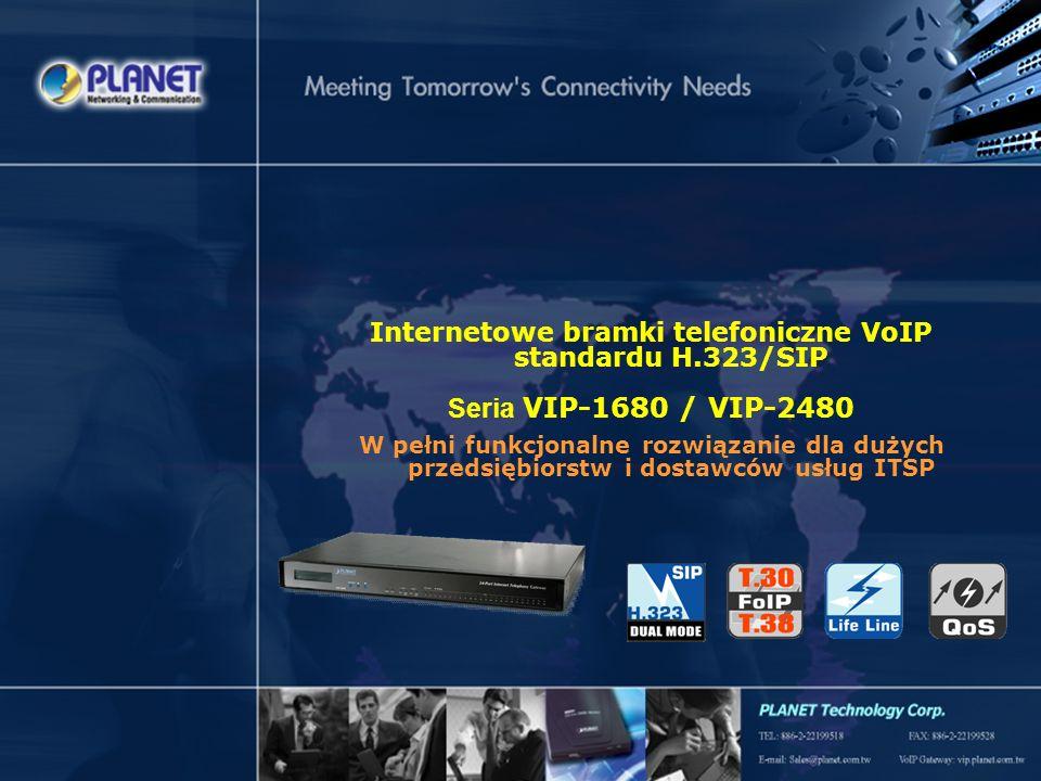 SG-VIP-1680_2480v1 Page 1 / 21 Internetowe bramki telefoniczne VoIP standardu H.323/SIP Seria VIP-1680 / VIP-2480 W pełni funkcjonalne rozwiązanie dla