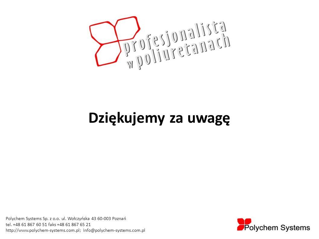 Polychem Systems Sp. z o.o. ul. Wołczyńska 43 60-003 Poznań tel. +48 61 867 60 51 faks +48 61 867 65 21 http://www.polychem-systems.com.pl; info@polyc
