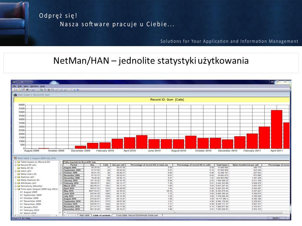 NetMan/HAN – jednolite statystyki użytkowania