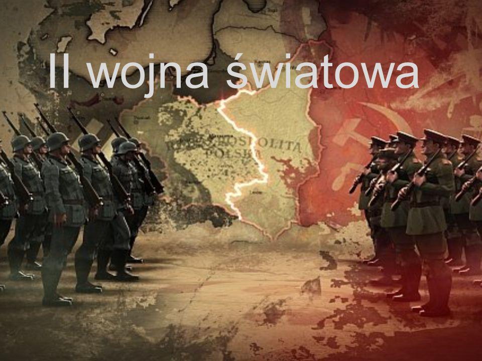 II wojna światowa – największy konflikt zbrojny w historii świata, trwający od 1 września 1939 do 2 września 1945 (w Europie do 8 maja 1945), obejmujący zasięgiem działań wojennych prawie całą Europę, wschodnią i południowo-wschodnią Azję, północną Afrykę, część Bliskiego Wschodu i wszystkie oceany.