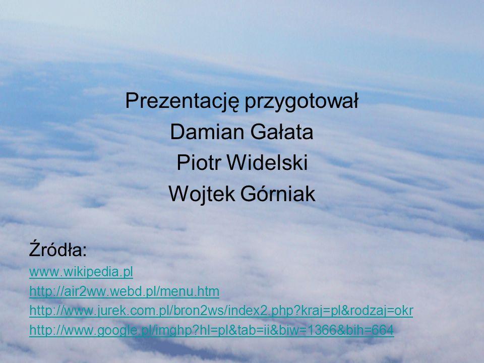 Prezentację przygotował Damian Gałata Piotr Widelski Wojtek Górniak Źródła: www.wikipedia.pl http://air2ww.webd.pl/menu.htm http://www.jurek.com.pl/br