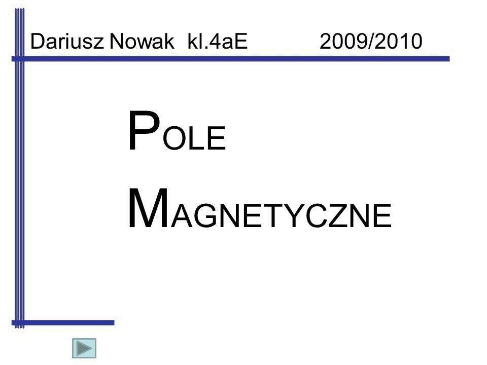 Definicja pola magnetycznego Pole magnetyczne to przestrzeń otaczająca magnes trwały lub przewodnik w którym płynie prąd.
