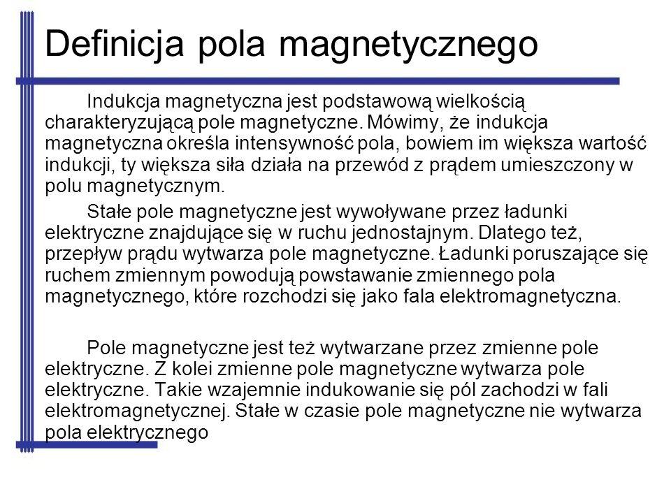 Indukcja magnetyczna jest podstawową wielkością charakteryzującą pole magnetyczne. Mówimy, że indukcja magnetyczna określa intensywność pola, bowiem i
