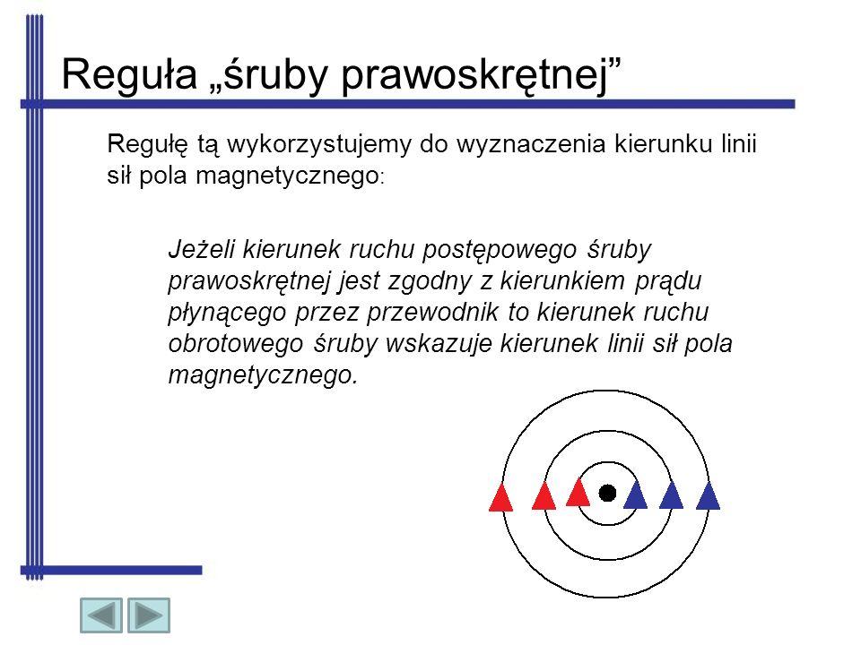 Strumień magnetyczny Jest to suma wszystkich linii pola magnetycznego, przechodzących przez określony przekrój.