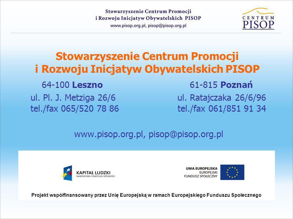 Informacje o Centrum PISOP 1.Data rejestracji w Krajowym Rejestrze Sądowym: 15.09.2000 r.