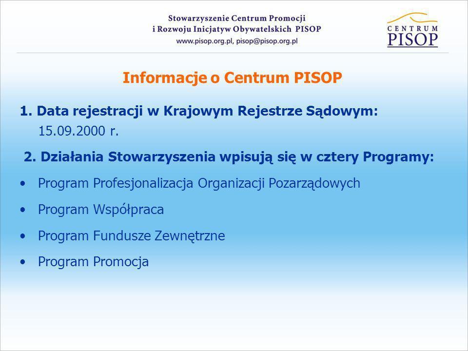 Informacje o Centrum PISOP 3.