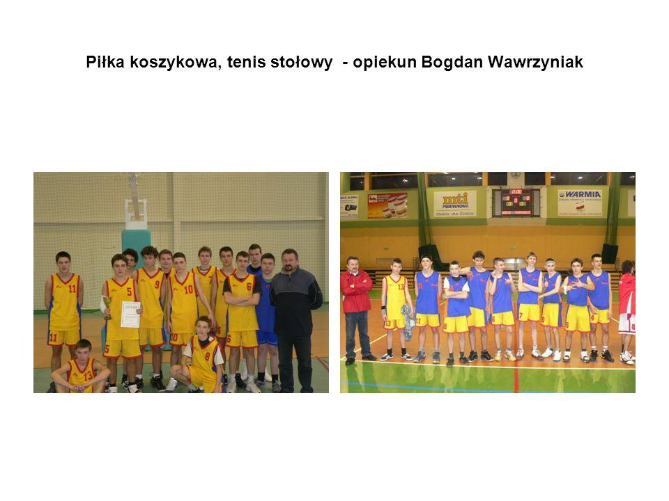 Piłka koszykowa, tenis stołowy - opiekun Bogdan Wawrzyniak
