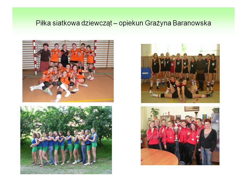 Piłka siatkowa dziewcząt – opiekun Grażyna Baranowska