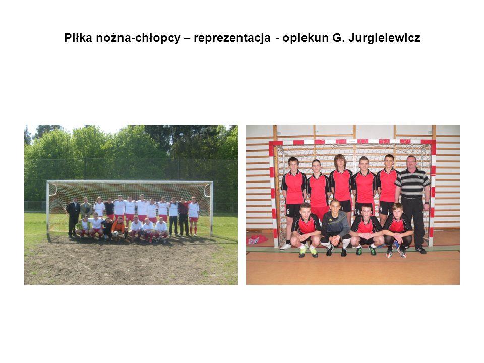 Piłka nożna-chłopcy – reprezentacja - opiekun G. Jurgielewicz