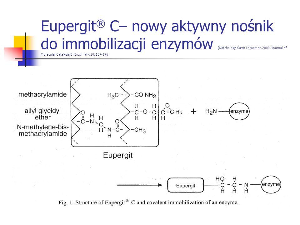 Eupergit ® C– nowy aktywny nośnik do immobilizacji enzymów (Katchalsky-Katzir i Kraemer, 2000, Journal of Molecular Catalysis B: Enzymatic 10, 157-176