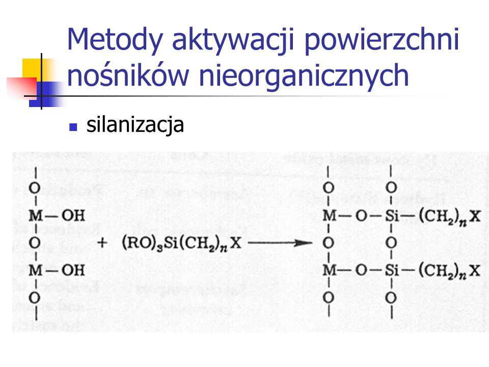 Metody aktywacji powierzchni nośników nieorganicznych silanizacja