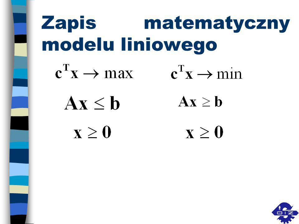 Rodzaje modeli decyzyjnych (w zależności od sytuacji decydenta) n deterministyczne probabilistyczne statystycznestochastyczne strategiczne