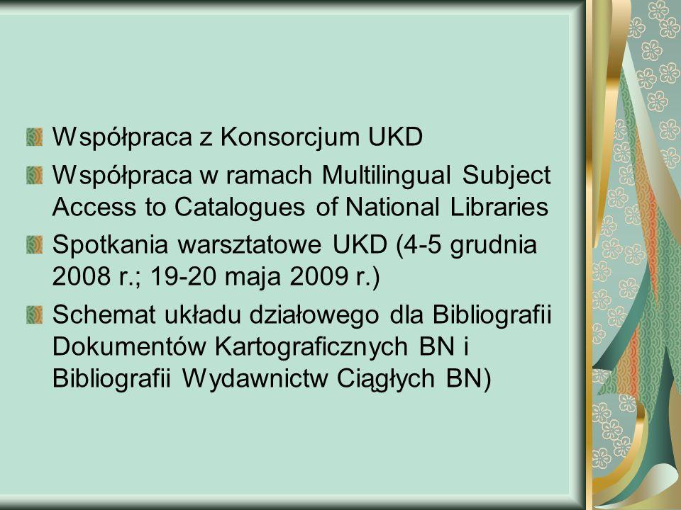 Aktualności – Bibliografia Dokumentów Kartograficznych W ramach współpracy z Zakładem Wydawnictw Kartograficznych przygotowujemy układ działowy wg UKD dla Bibliografii Dokumentów Kartograficznych.