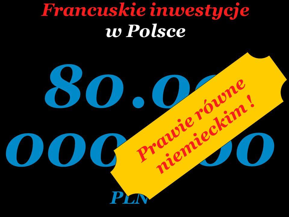 Francuskie inwestycje w Polsce 80.000 000.000 PLN Prawie równe niemieckim !