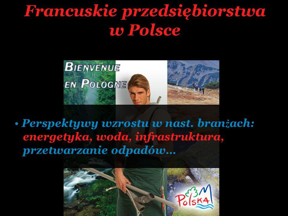 Francuskie przedsiębiorstwa w Polsce Perspektywy wzrostu w nast. bran ż ach: energetyka, woda, infrastruktura, przetwarzanie odpadów…