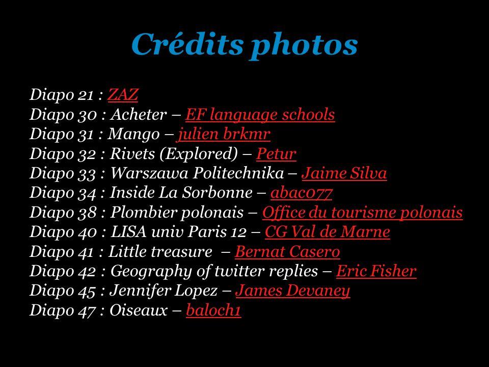 Crédits photos Diapo 21 : ZAZZAZ Diapo 30 : Acheter – EF language schoolsEF language schools Diapo 31 : Mango – julien brkmrjulien brkmr Diapo 32 : Ri
