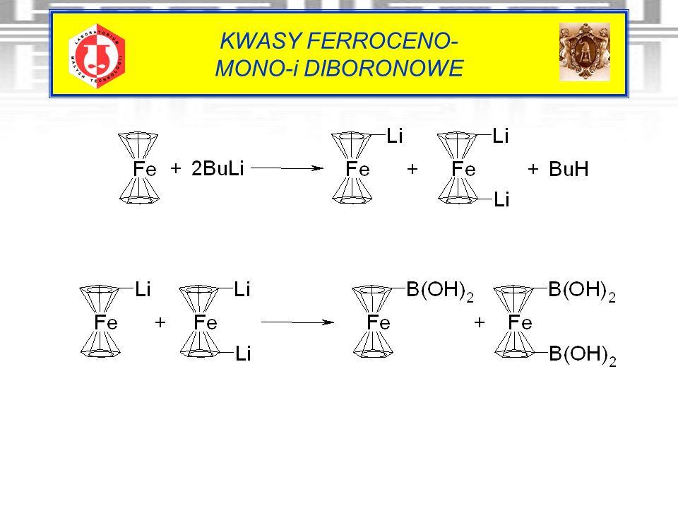 KWASY FERROCENO- MONO-i DIBORONOWE