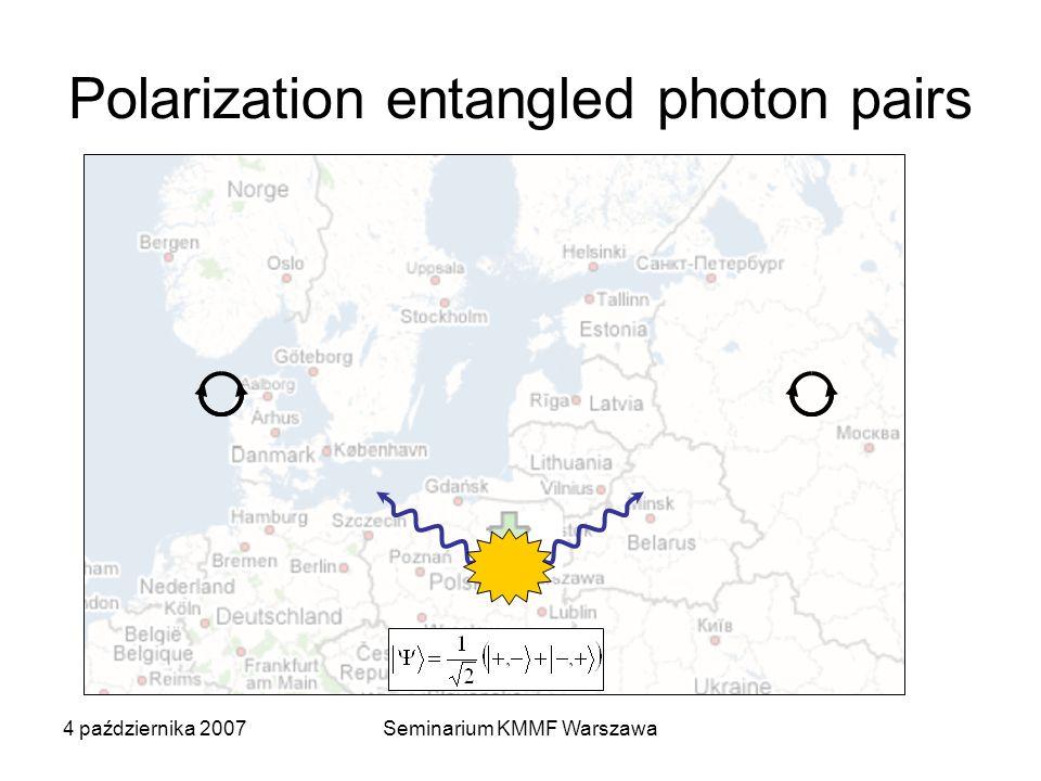 4 października 2007Seminarium KMMF Warszawa Wpływ pola magnetycznego (konfiguracja Faradaya) - + + - B > 0, B||z ~g X B B H H V V B = 0 biekscyton AES ekscyton pusta kropka