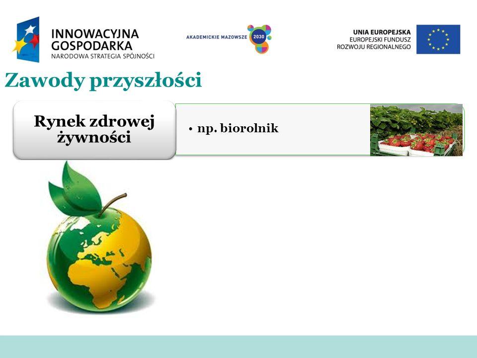 Zawody przyszłości np. biorolnik Rynek zdrowej żywności