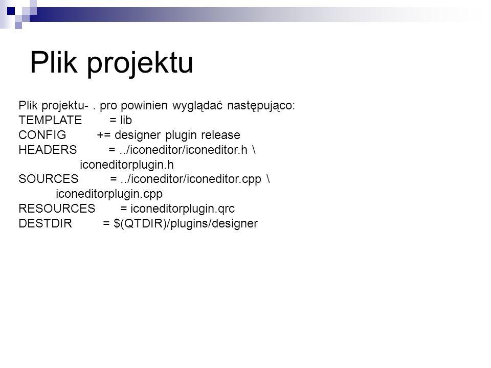 Plik projektu Plik projektu-.
