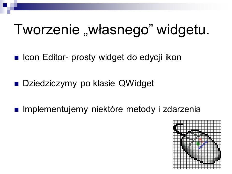 Tworzenie własnego widgetu.