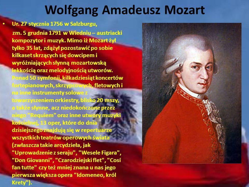 Ludwig van Beethoven Talent do muzyki Beethoven odziedziczył po ojcu i dziadku, którzy byli zawodowymi muzykami. Wiele łączyło go z Wiedniem - ówczesn