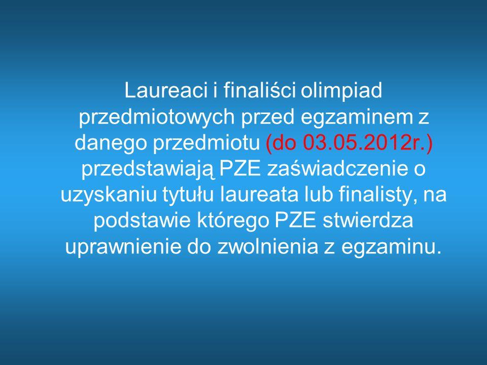 Zdawanie egzaminu maturalnego w warunkach i formie dostosowanych do indywidualnych potrzeb psychofizycznych i edukacyjnych absolwentów Zdający wraz z deklaracją (wstępną do 30.09.2011r.