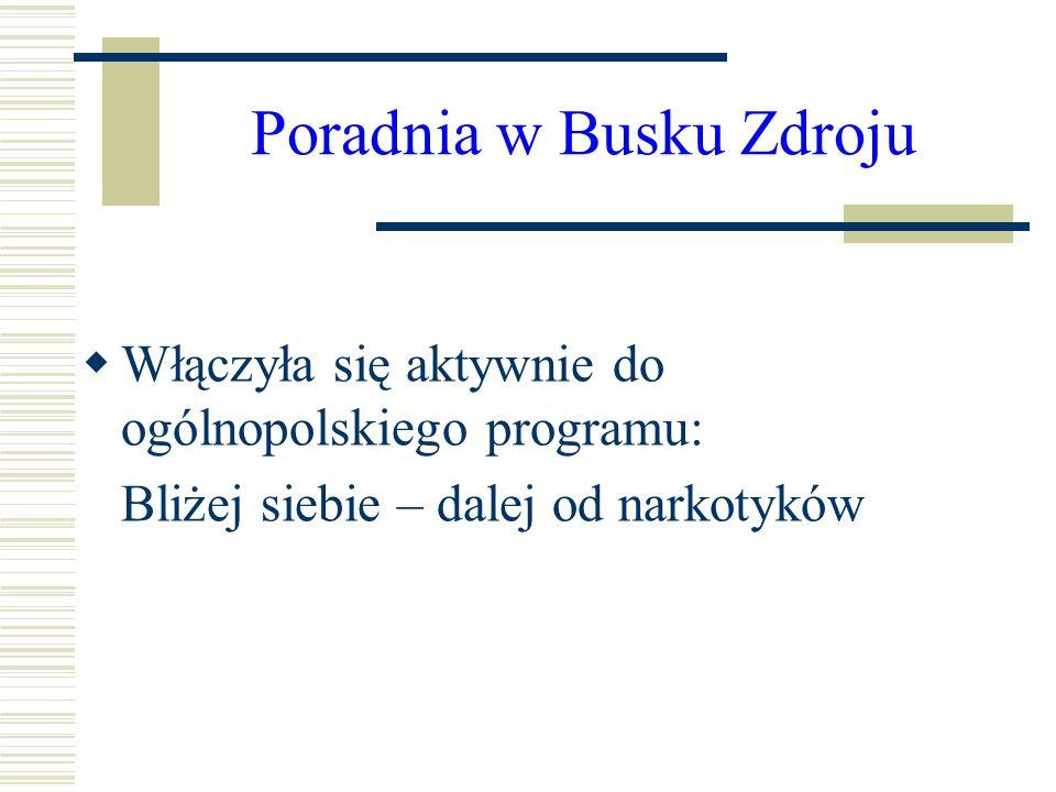 Poradnia w Busku Zdroju Włączyła się aktywnie do ogólnopolskiego programu: Bliżej siebie – dalej od narkotyków
