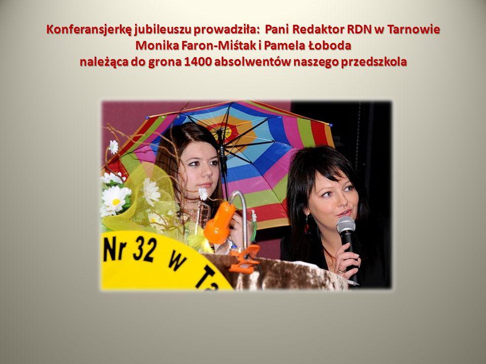 Konferansjerkę jubileuszu prowadziła: Pani Redaktor RDN w Tarnowie Monika Faron-Miśtak i Pamela Łoboda należąca do grona 1400 absolwentów naszego prze
