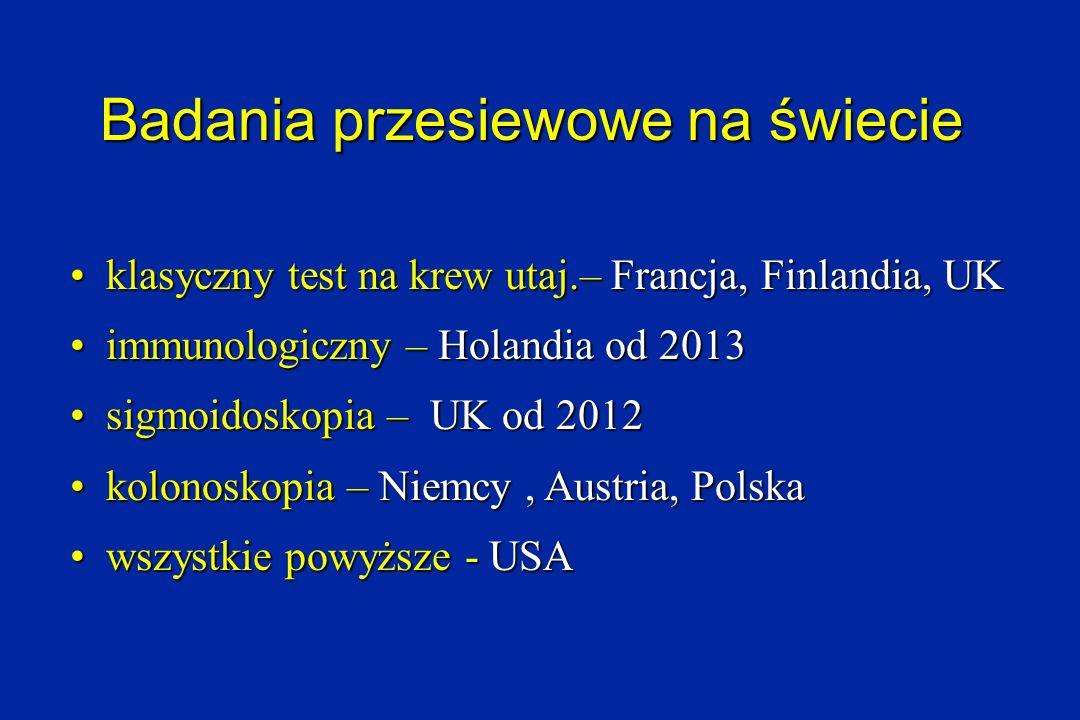 Badania przesiewowe na świecie klasyczny test na krew utaj.– Francja, Finlandia, UK klasyczny test na krew utaj.– Francja, Finlandia, UK immunologiczn
