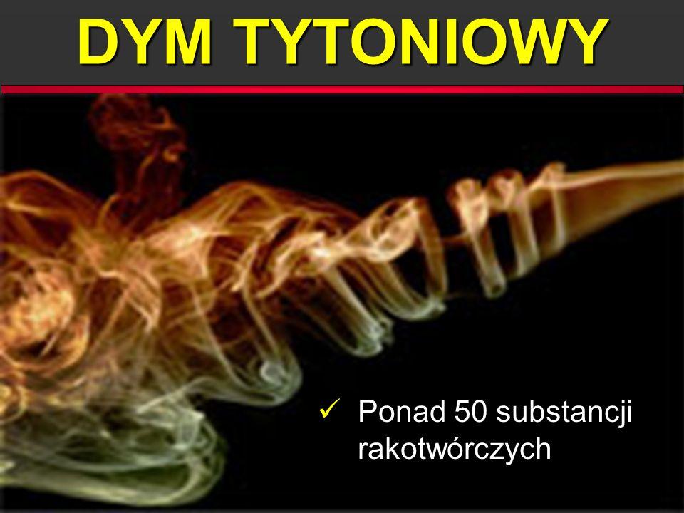 DYM TYTONIOWY Ponad 50 substancji rakotwórczych Ponad 50 substancji rakotwórczych