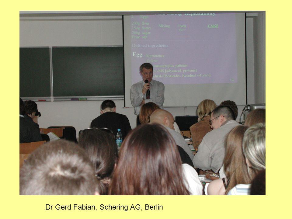 Dr Gerd Fabian, Schering AG, Berlin