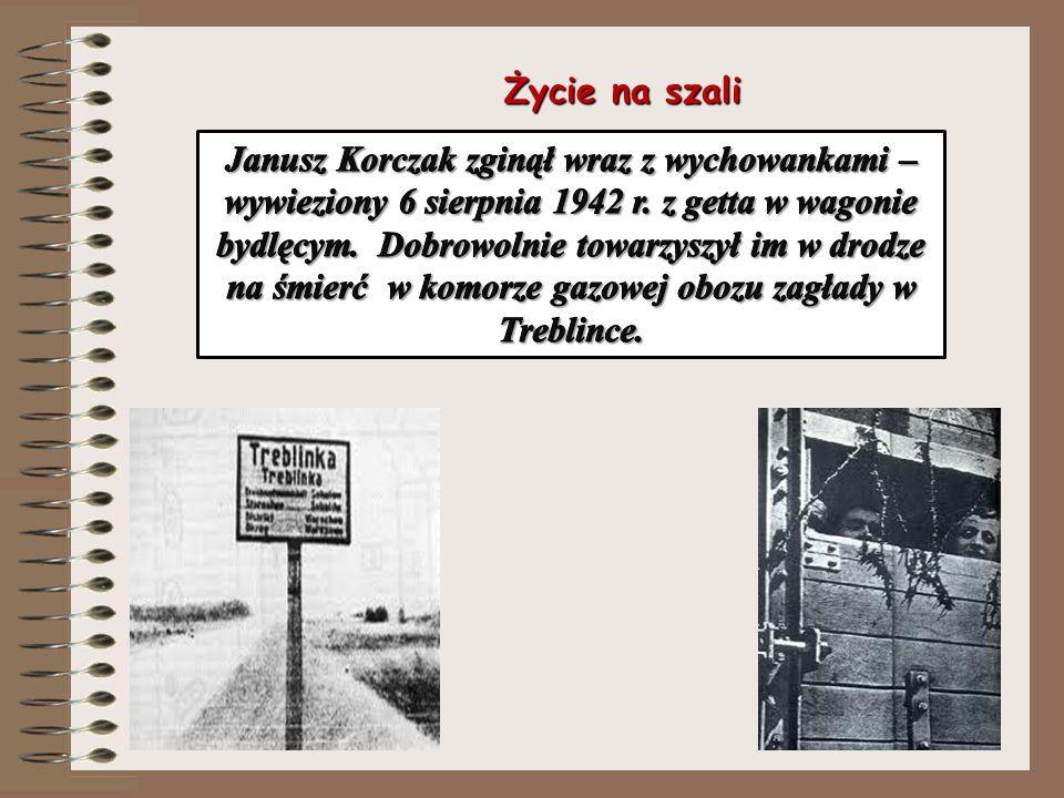 Chory, znieczulający głód alkoholem, zmęczony, rozdrażniony Korczak w nieludzkich warunkach getta funkcjonuje w różnych wymiarach. Walczy z codziennoś