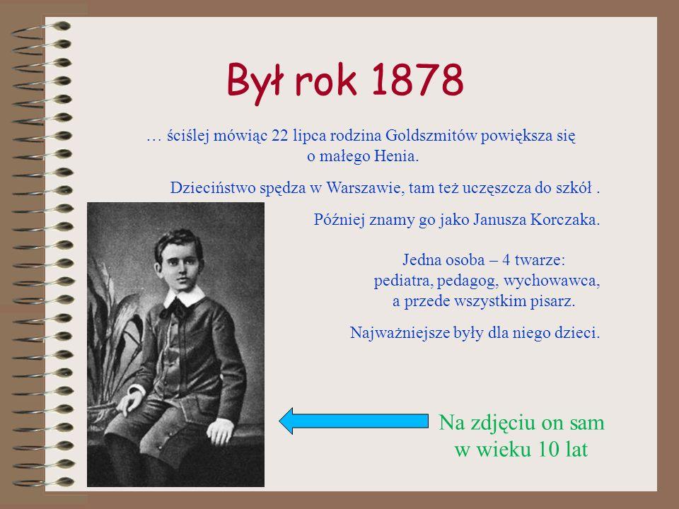 Był rok 1878 … ściślej mówiąc 22 lipca rodzina Goldszmitów powiększa się o małego Henia.