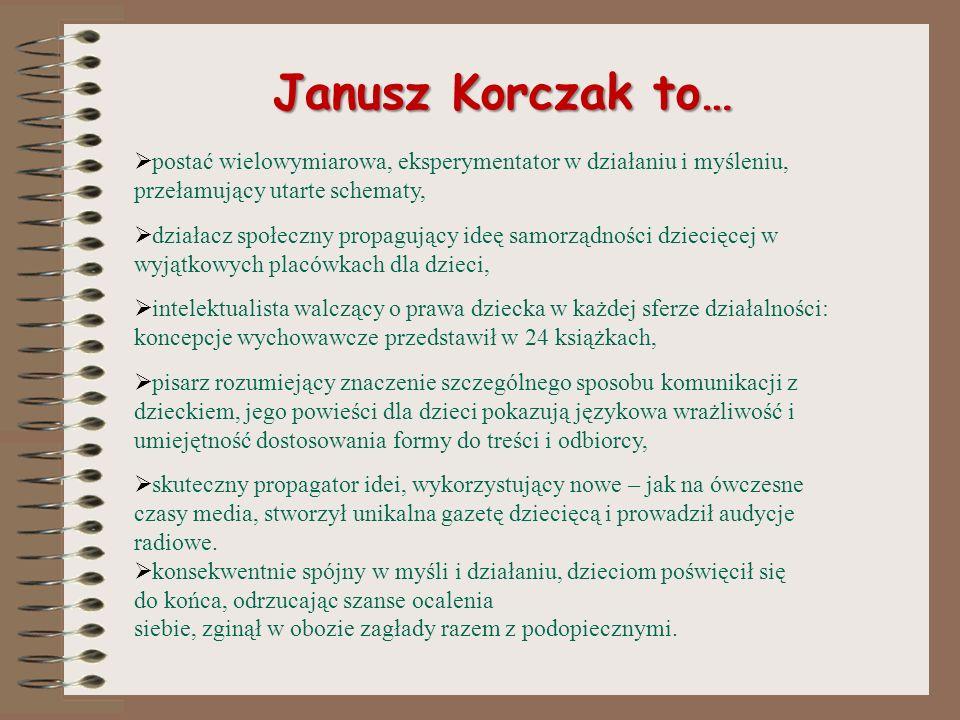 Korczak ze studentami (prowadził m. in. wykłady nt. rozwoju dziecka)