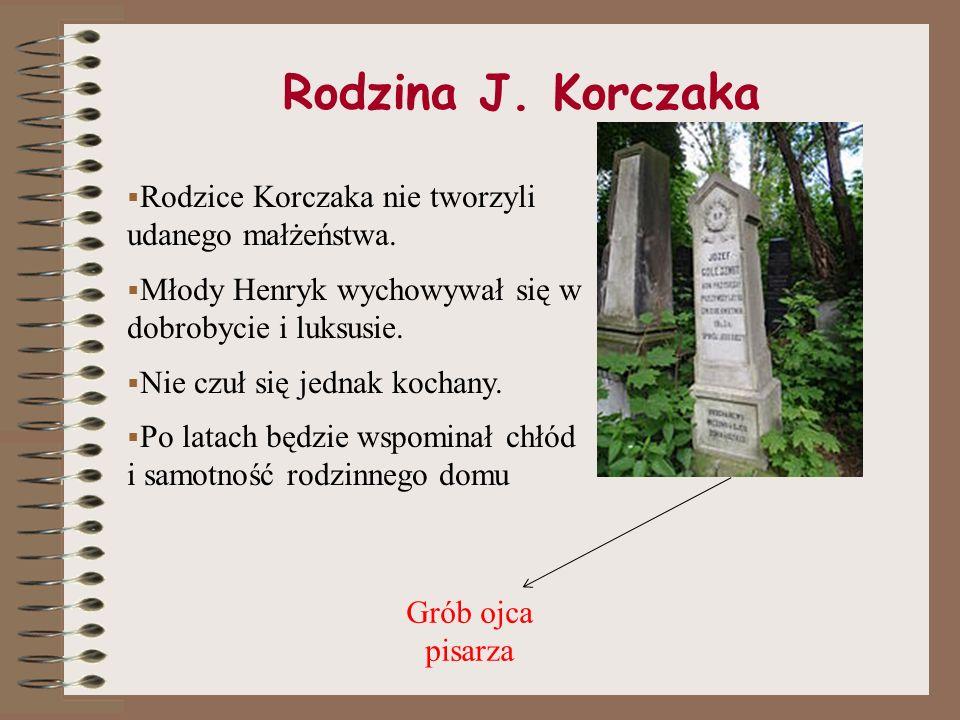 Rodzina J.Korczaka Rodzice Korczaka nie tworzyli udanego małżeństwa.