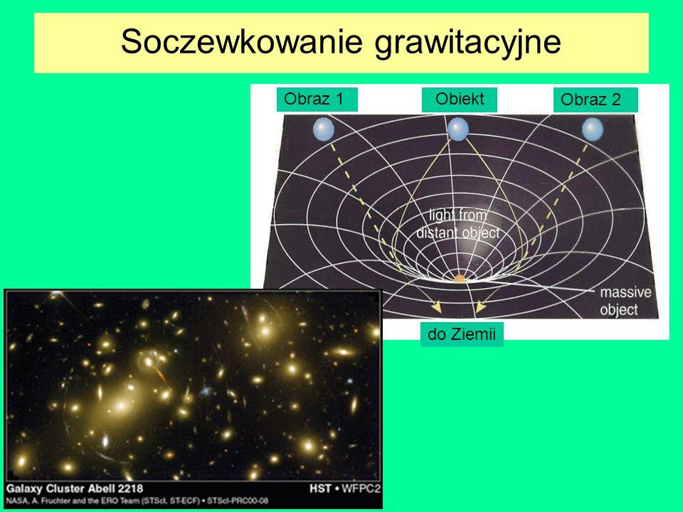 Soczewkowanie grawitacyjne Obraz 1 do Ziemii Obraz 2 Obiekt