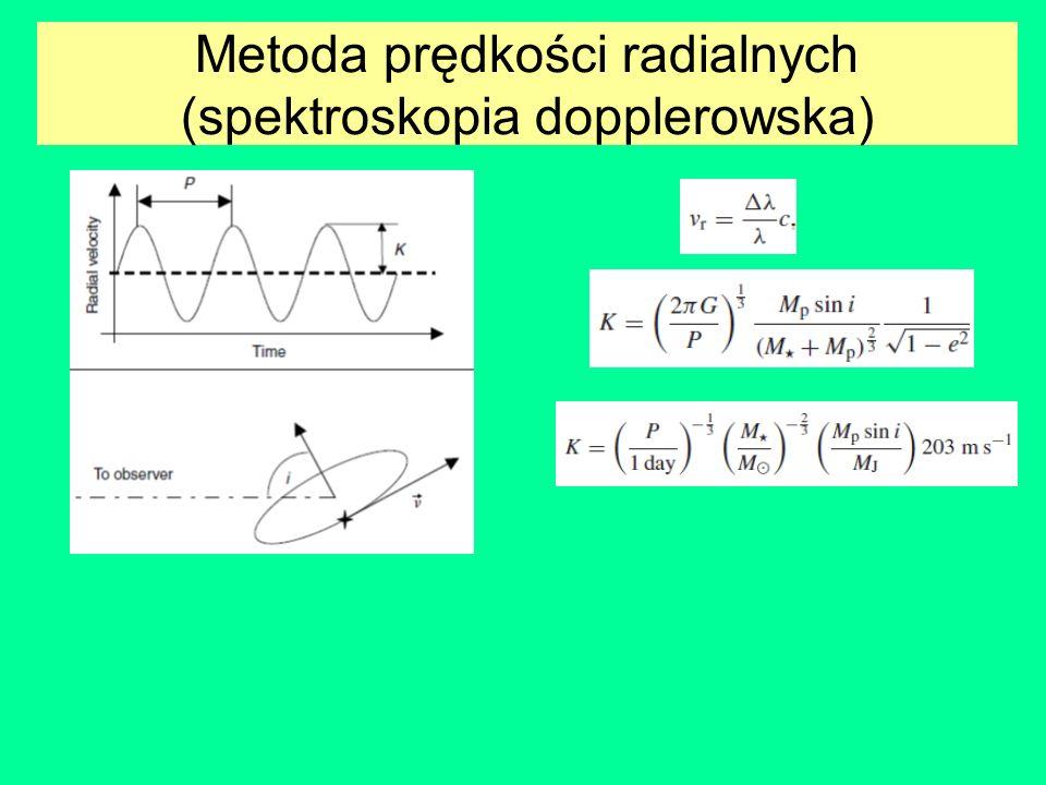 Metoda prędkości radialnych 6.