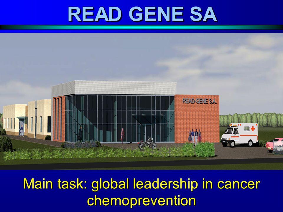 Main task: global leadership in cancer chemoprevention READ GENE SA
