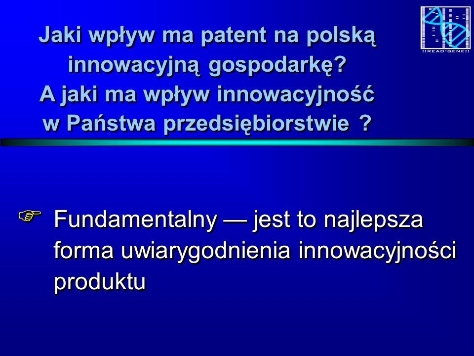 Jaki wpływ ma patent na polską innowacyjną gospodarkę.