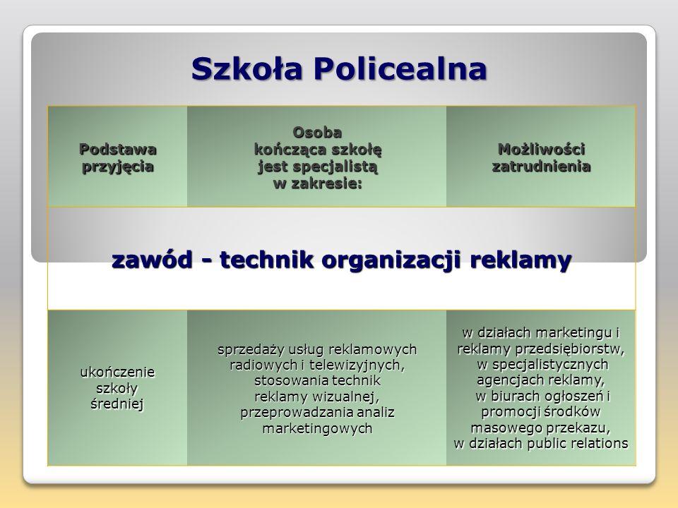 Szkoła Policealna Podstawa przyjęcia Osoba kończąca szkołę jest specjalistą w zakresie: Możliwości zatrudnienia zawód - technik rachunkowości ukończen