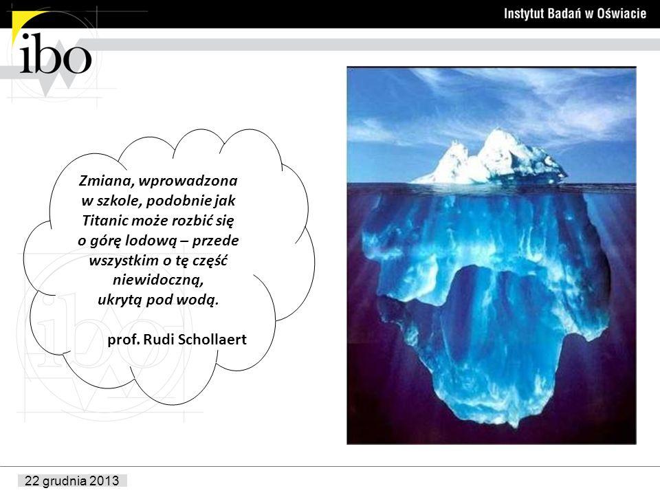 22 grudnia 2013 Zmiana, wprowadzona w szkole, podobnie jak Titanic może rozbić się o górę lodową – przede wszystkim o tę część niewidoczną, ukrytą pod