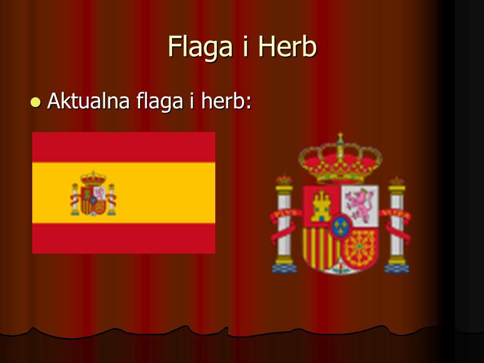 Informacje podstawowe Język urzędowy - hiszpański Język używany - hiszpański (dodatkowo w niektórych regionach kataloński, galicyjski, baskijski) Stolica - Madryt Głowa państwa - król Jan Karol I Następca tronu - książę Filip Burbon Powierzchnia całkowita - 504 842 km2 Całkowita liczba ludności - 45 200 737 Jednostka monetarna - euro, peseta hiszpańska