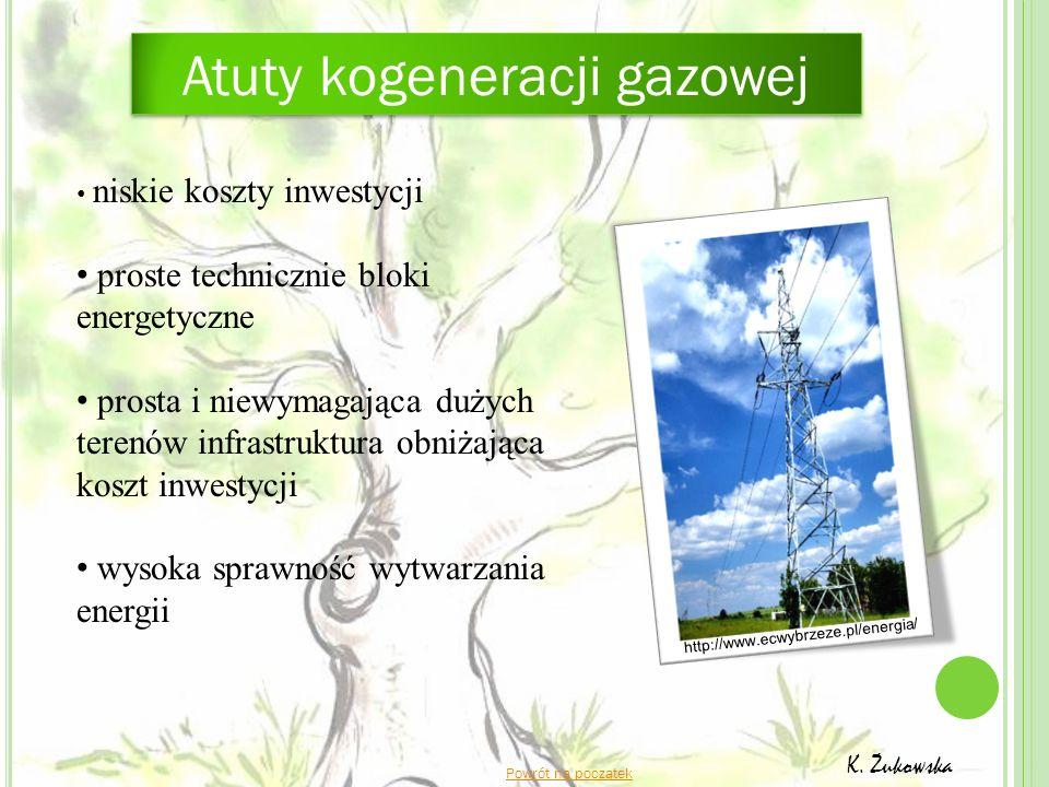 http://www.ecwybrzeze.pl/energia/ Powrót na początek K. Żukowska niskie koszty inwestycji proste technicznie bloki energetyczne prosta i niewymagająca