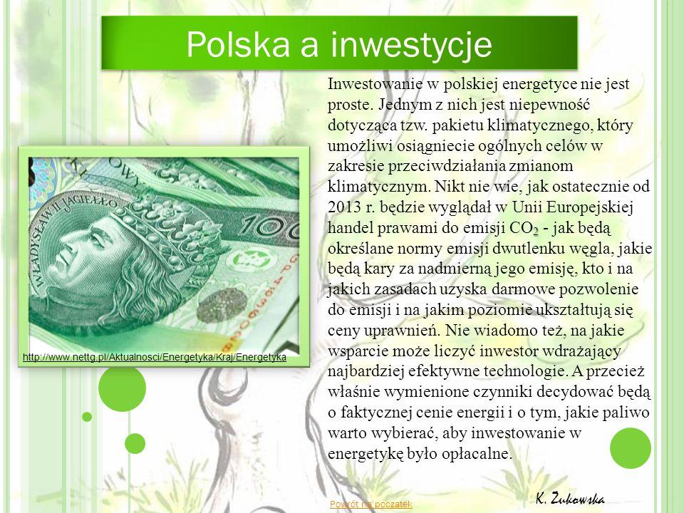 Polska a inwestycje 2 Inwestowanie w polskiej energetyce nie jest proste. Jednym z nich jest niepewność dotycząca tzw. pakietu klimatycznego, który um