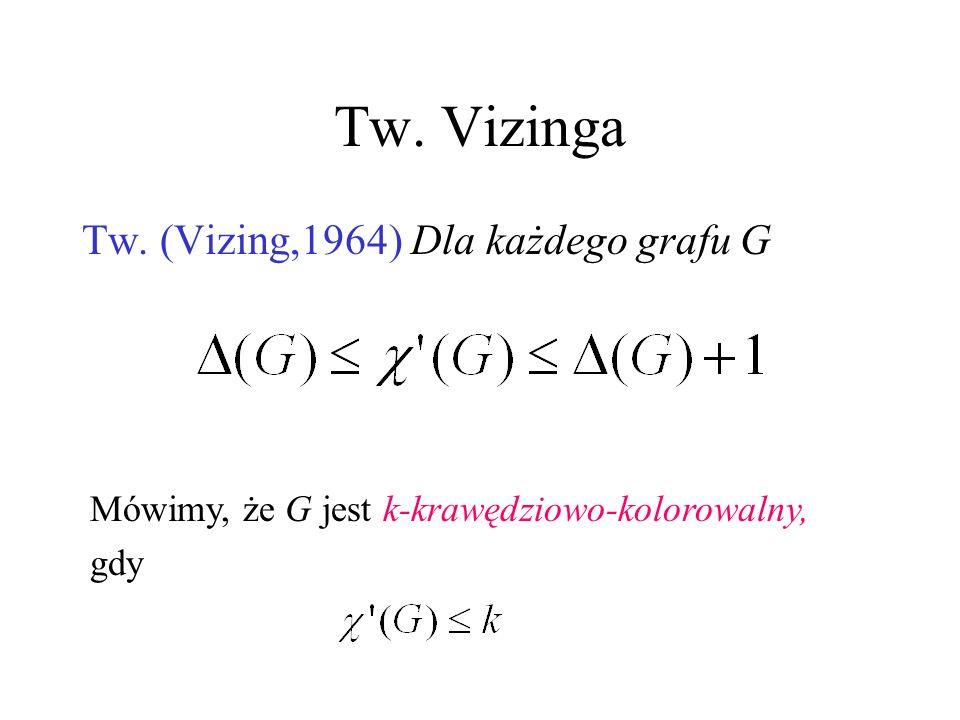 Inaczej χ(G) to minimalna liczba skojarzeń, którymi można pokryć zbiór E(G). χ(G)= χ(L(G)) χ=3 χ=4