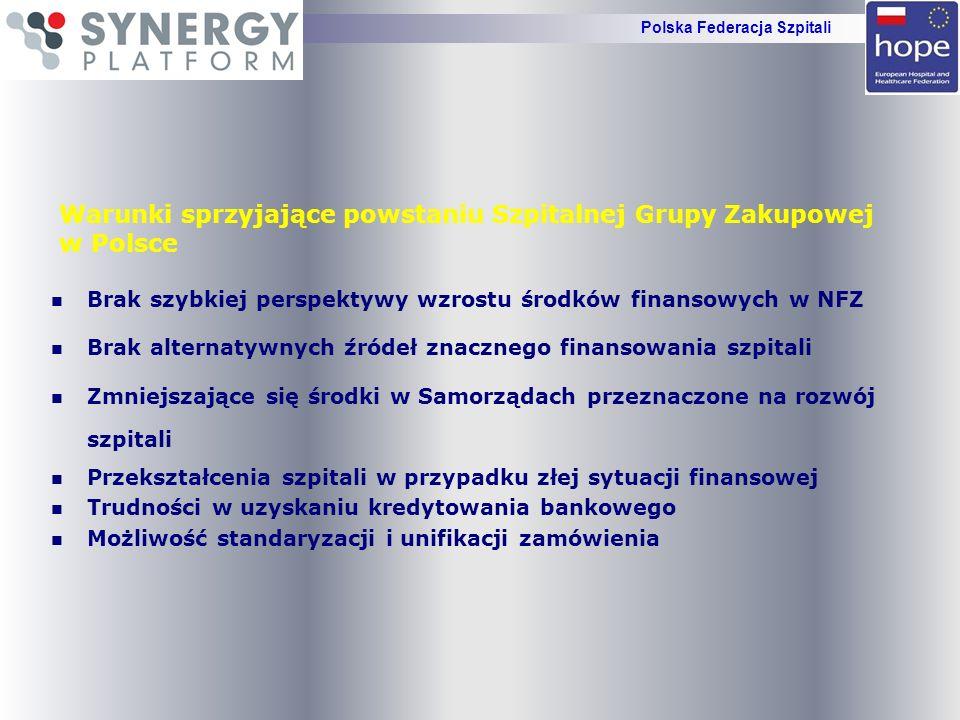 ZAPRASZAMY DO WSPÓŁPRACY DZIAŁALNŚĆ I ROZWÓJ GRUPY ZAKUPOWEJ ODBYWA SIĘ POD PATRONATEM POLSKIEJ FEDERACJI SZPITALI NAJWIEKSZEJ ORGANIZACJI SZPITALNEJ W POLSCE PONAD PODZIAŁAMI Polska Federacja Szpitali